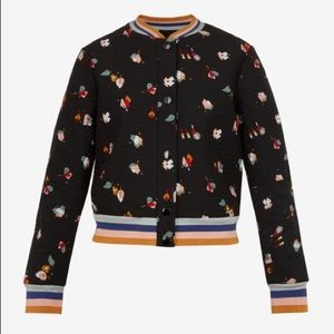 Ted Baker Floral Quilted Bomber